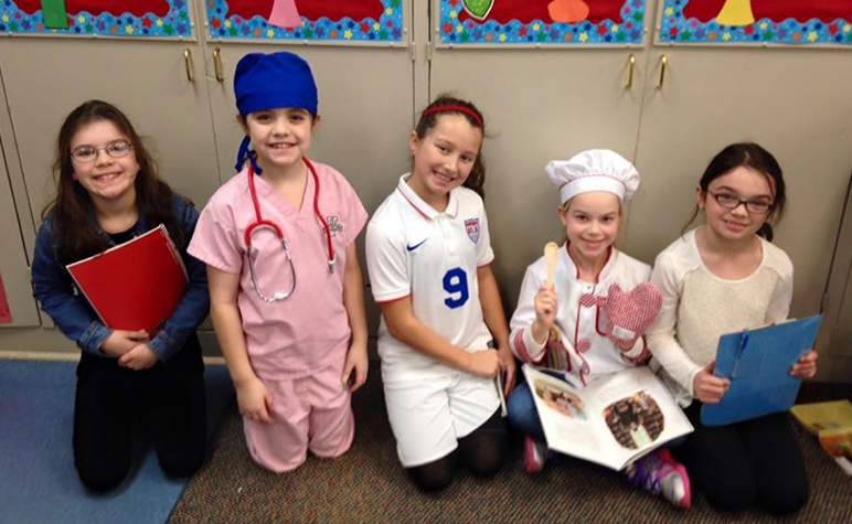 Cardinal Post March 2016: Students dressed up for career day and their future careers