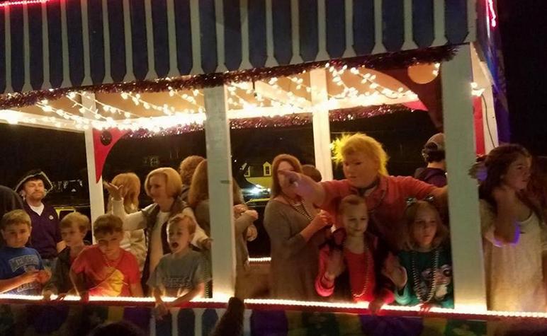 Cardinal Appeal: Mardi Gras Parade float