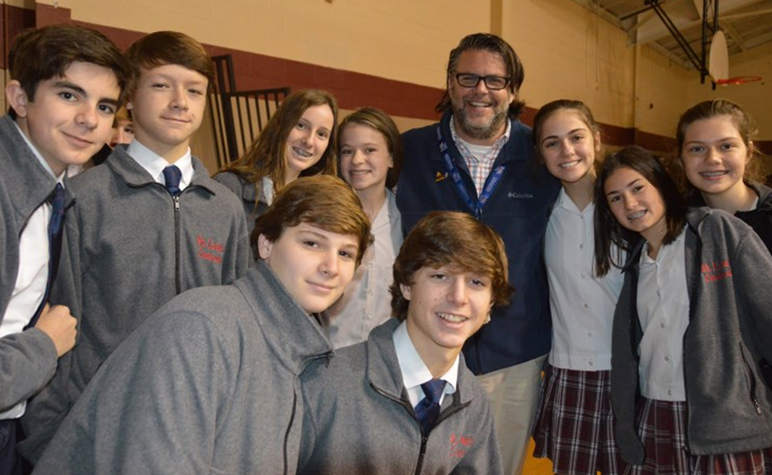 Cardinal Post January 2018: Students celebrate Veterans Day Mass