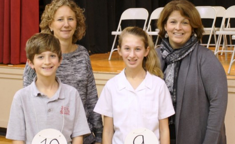 Cardinal Post Holiday 2014: Brittain Ross placed first and Michael Ross placed second in the Spelling Bee
