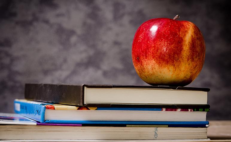 books, apple, back to school, wednesday wire, st. louis catholic school